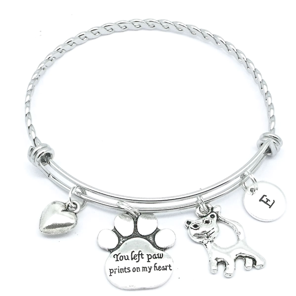 bracelet large memorabilia for and dog project paw cork jewelry memorial products hand pet bracelets lovers